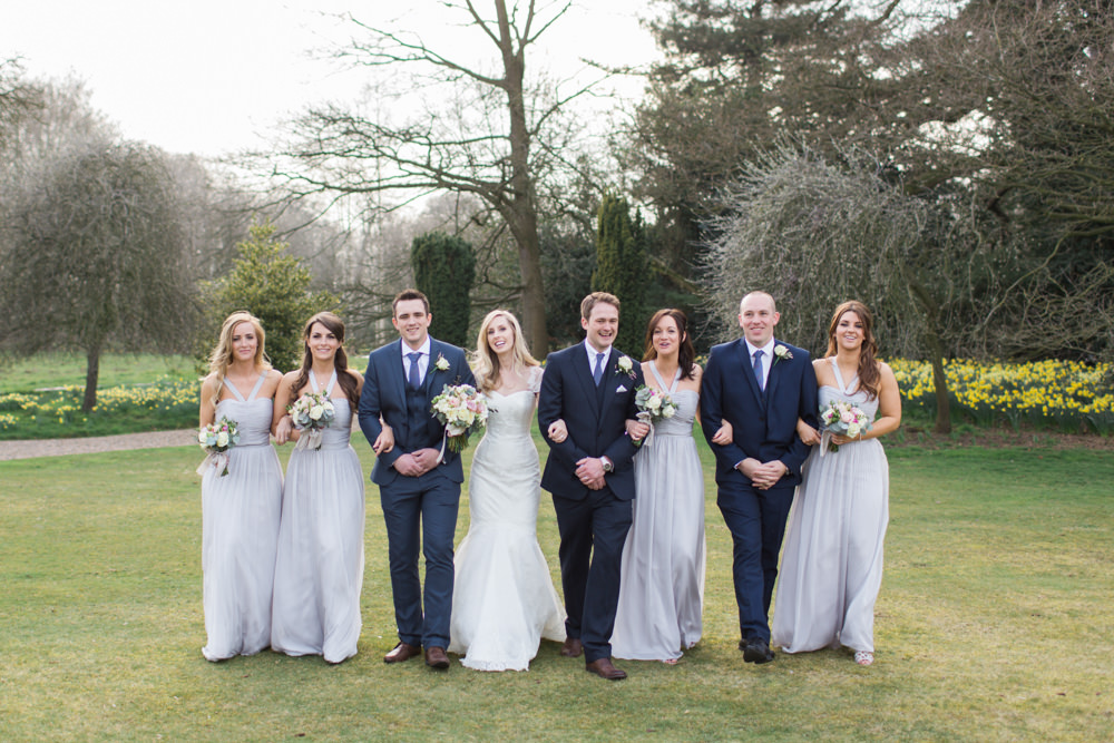 Dominique by Sassi Holford and dove grey ted baker bridesmaids ...