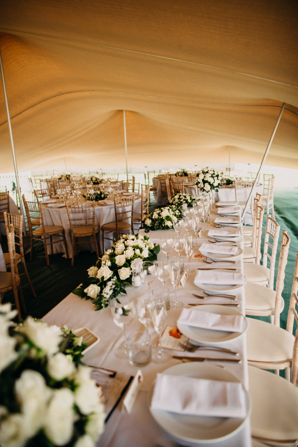 Outdoor Stretch Tent Wedding With Italian Antipasti Feast
