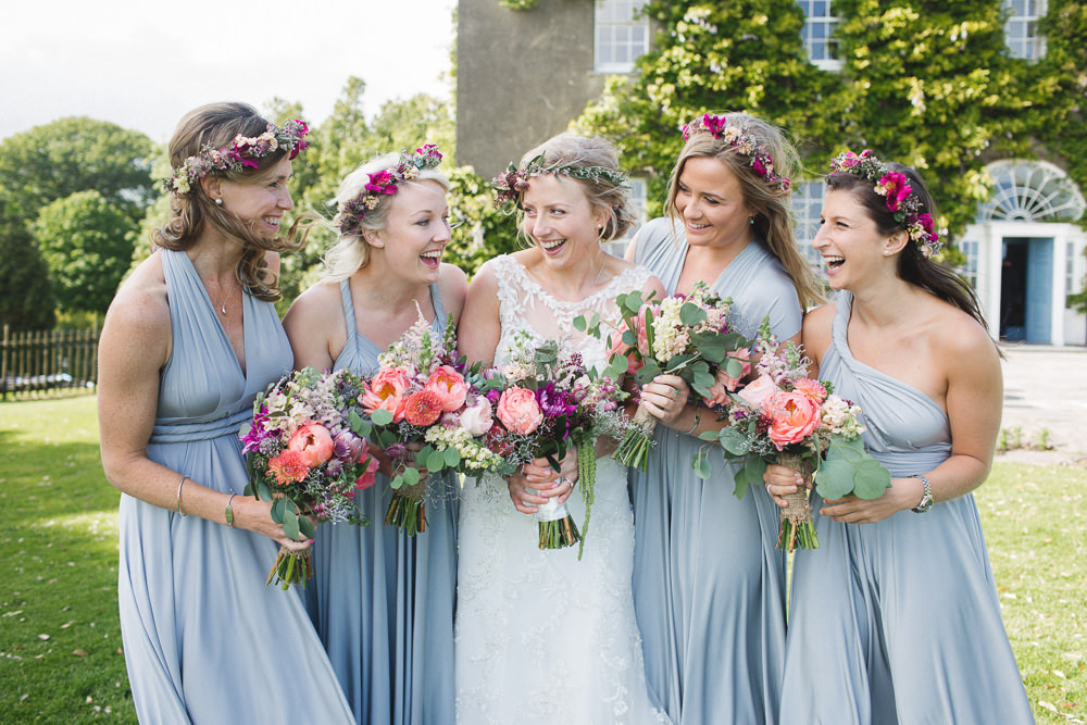 Ballymaloe house wedding venue ireland with a maggie sottero bridal gown twobirds bridesmaid dresses protea bouquet by kate gray photography image by a mightylinksfo
