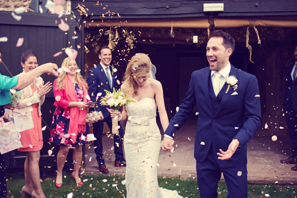 Bride wore a Preloved Lace Wedding Dress for a budget friendly DIY ...