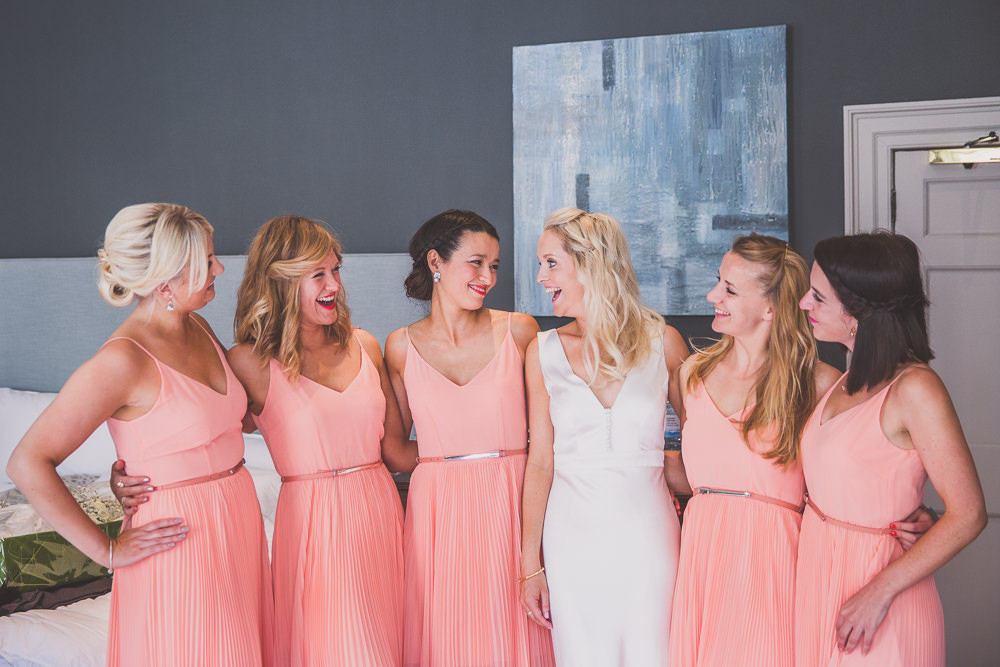 Coral High Steet Bridesmaid Dresses From Oasis
