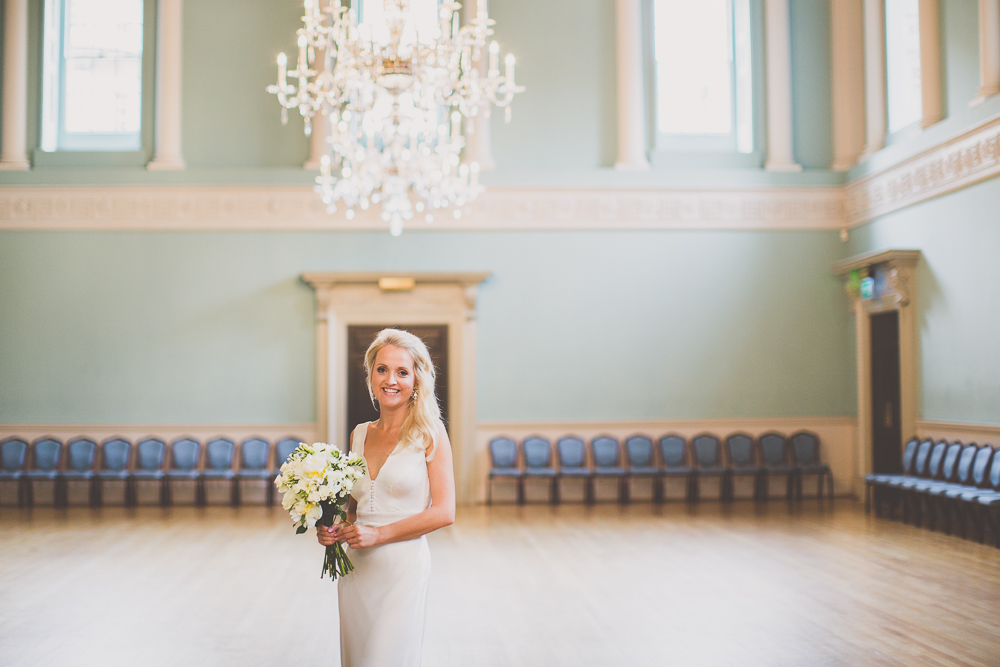 Contemporay Wedding at The Assembly Rooms, Bath with Charlie Brear Gown