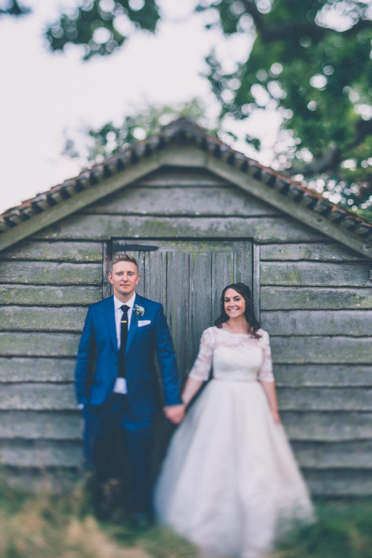Festival Themed Wedding in Devon with Lace wedding dress, pastel ...