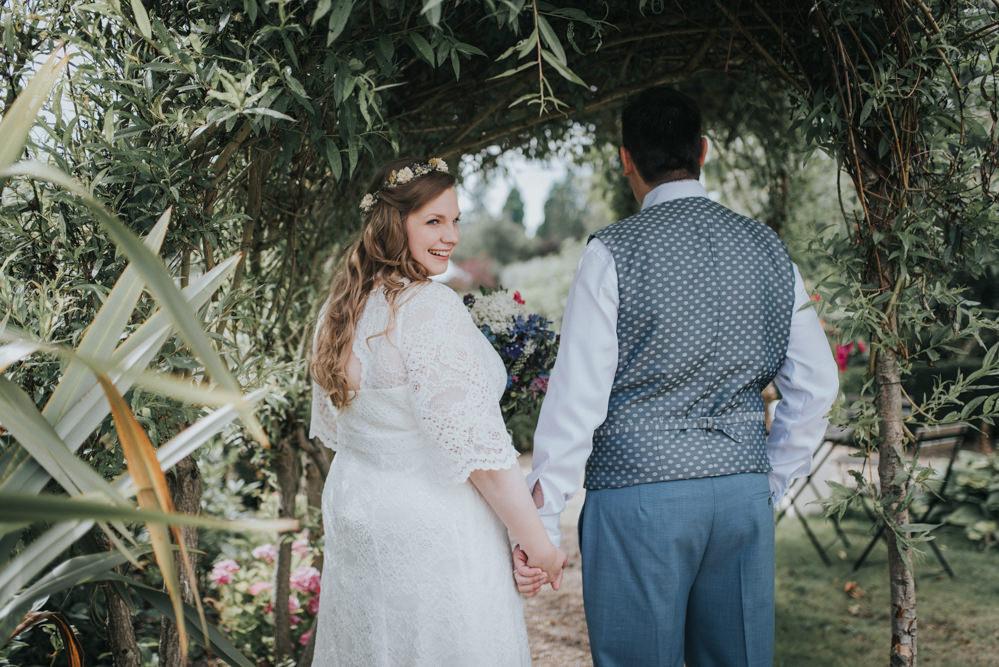 Secret Garden Budget Wedding With Diy Decor High Street Dresses