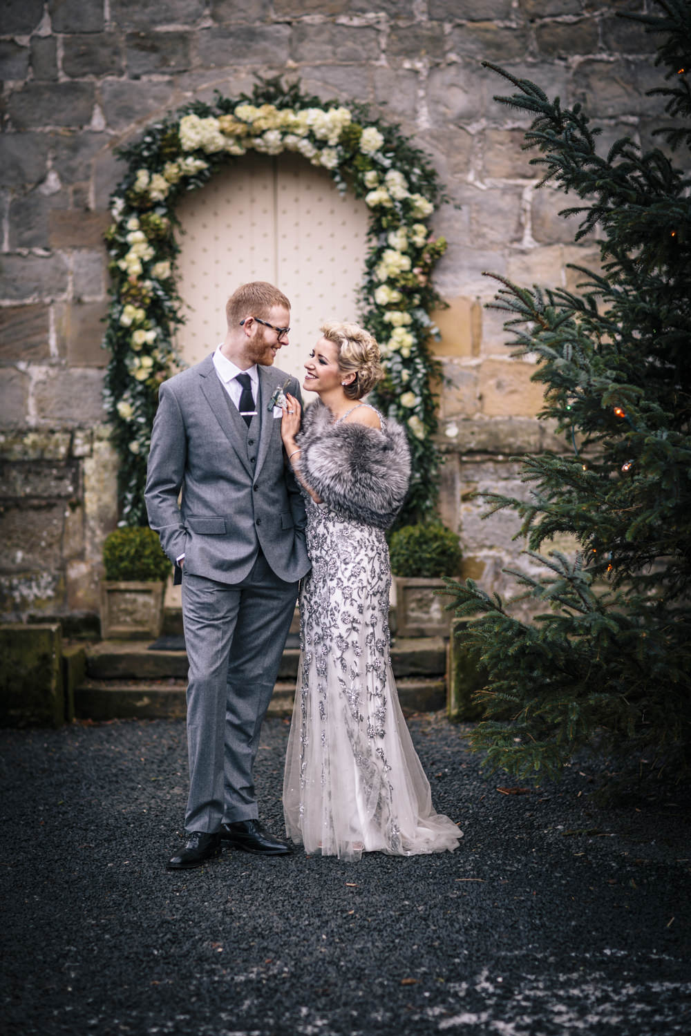 An Eliza Jane Howell dress for a Winter candlelit wedding at ...