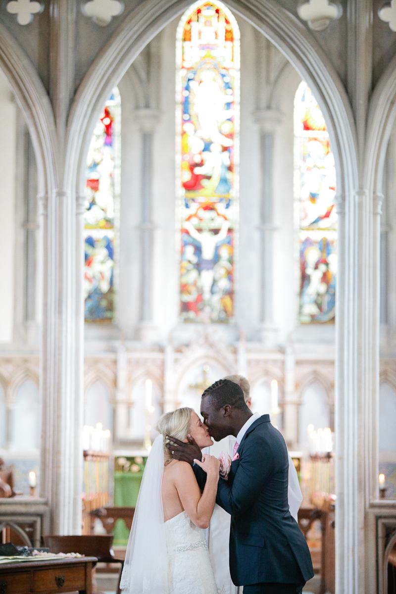 Elegant Church Wedding In Cambridge With Bride In Lace Benjamin Roberts Gown