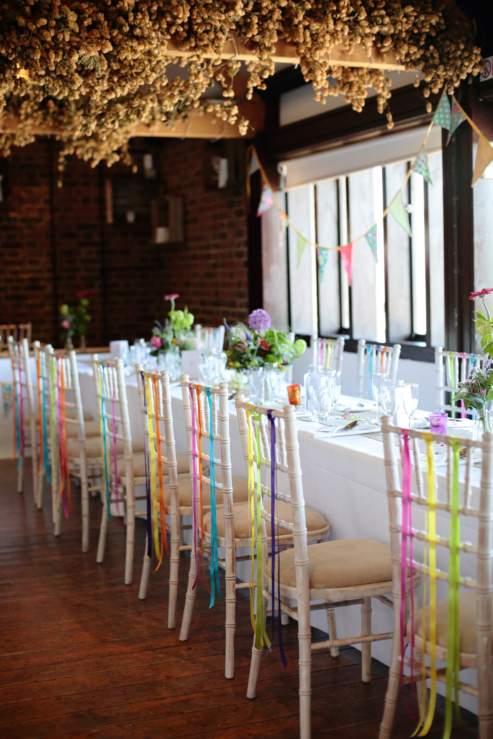 A colourful village hall wedding in kent with lots of diy and a tea a junglespirit Images
