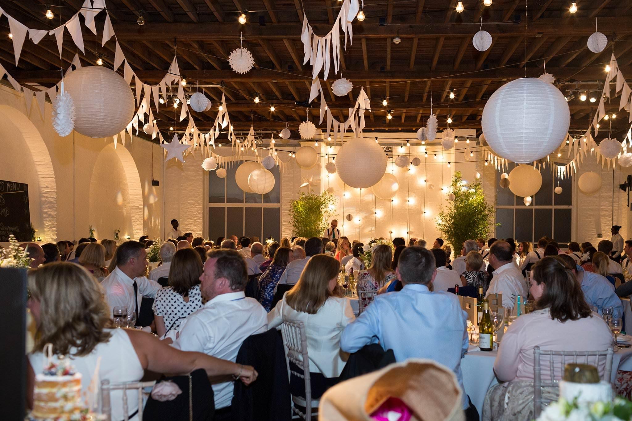 Trinity buoy wharf wedding with lace mon cheri bridal gown trinity buoy wharf wedding reception junglespirit Images