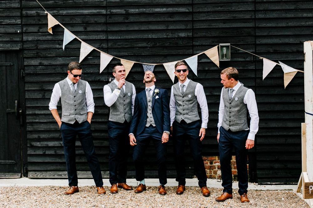 712a7779de4 Relaxed Groomswear With Waistcoats   Bowties For A Coastal Wedding