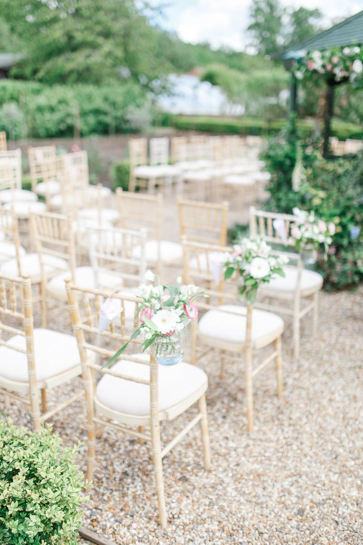Blush Pink & Gold Outdoor Wedding at The Secret Garden in Kent