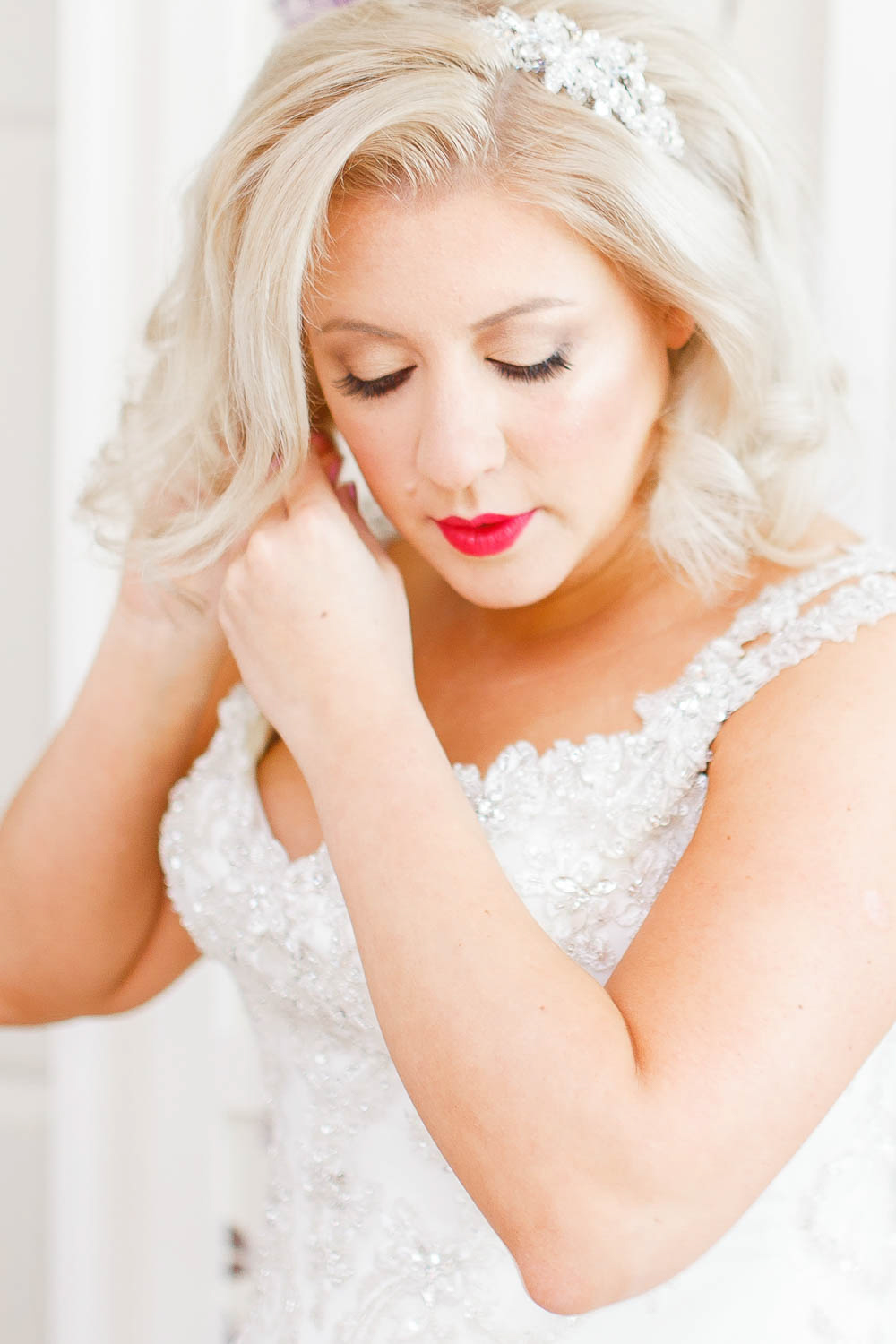 f869c22d077d Bridal Preparations | Red Lipstick | White Stag Wedding Photography
