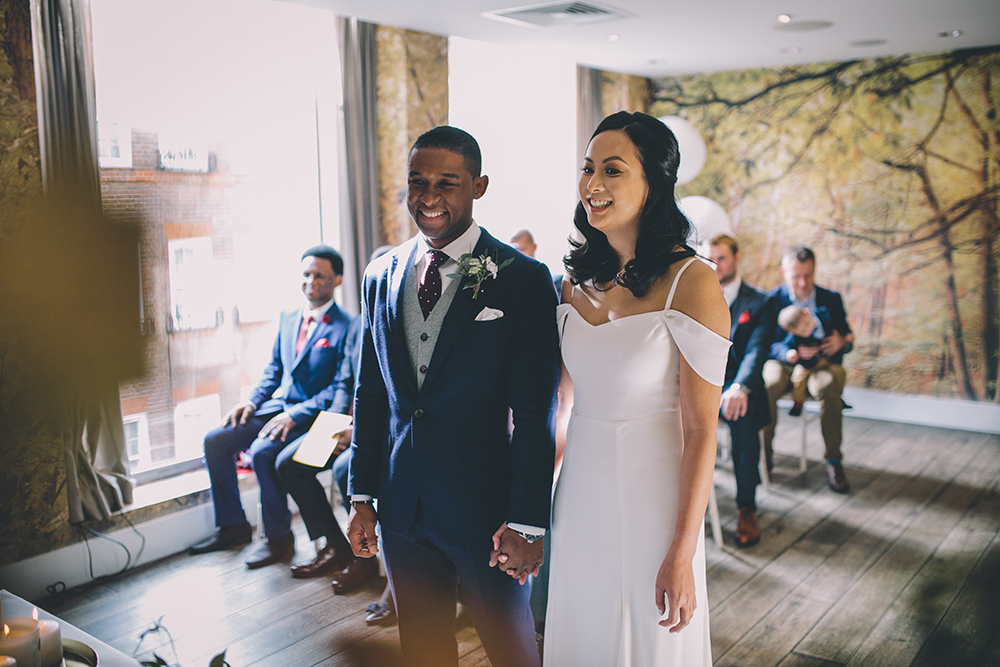 ba4d3491ae London Wedding Planned by Revelry Events with Reformation Poppy Gown