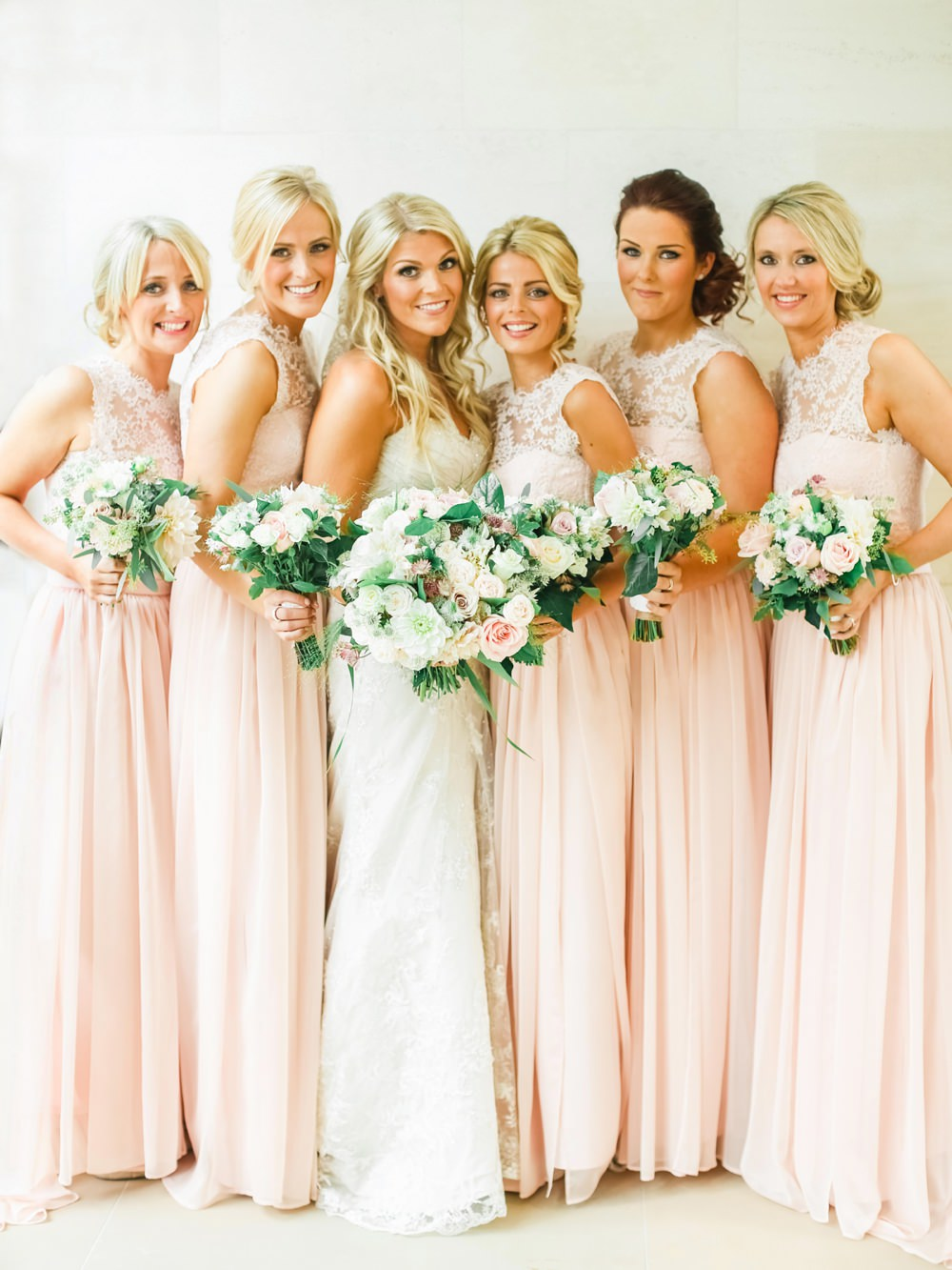 An ian stuart sapphire bridal gown for a classically romantic pink bridesmaid dresses image by a hrefhttpbelleandbeaublog target ombrellifo Image collections