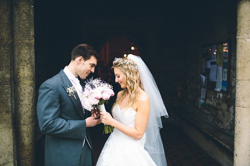 Cambridge Church Wedding with Bride In Toscana By White One