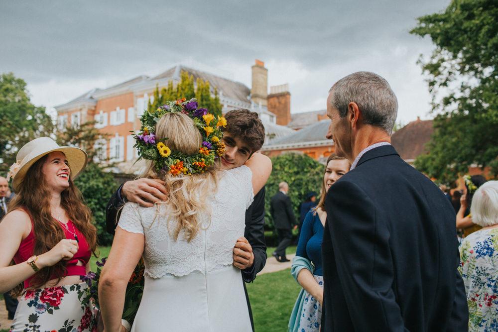 Simple Wedding Dresses Asos: Colourful Back Garden Wedding With Bride In ASOS Bridal