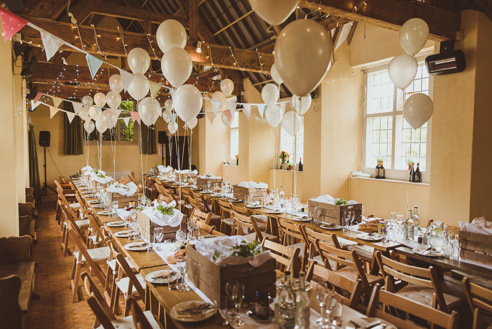Village Hall Wedding With A Picnic Style Meal Bride Wears 50s Style