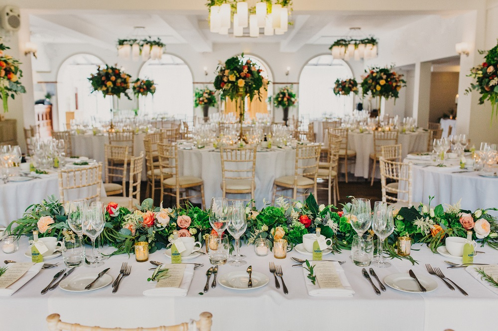 Coral & Green Wedding at The Italian Villa in Poole ...