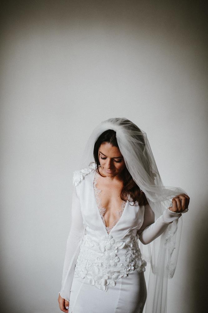 Stylish Jewish Wedding With Bride In Bespoke Dress At Trinity Buoy