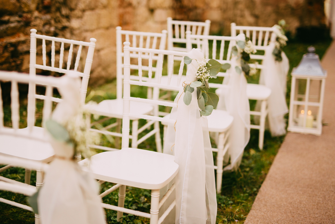 outdoor wedding chair decorations outdoor ceremony at monastery ruins žiče charterhouse in 6320