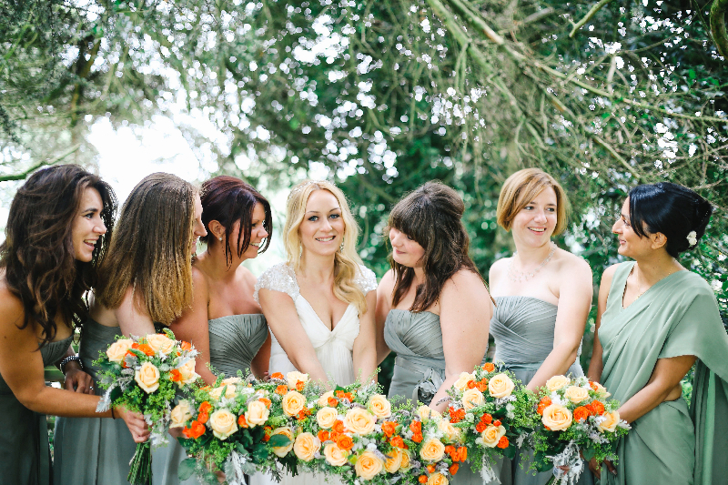 A contemporary outdoor wedding in the midlands with Jenny Packham dress and accessories and photography by Belle and Beau Photography