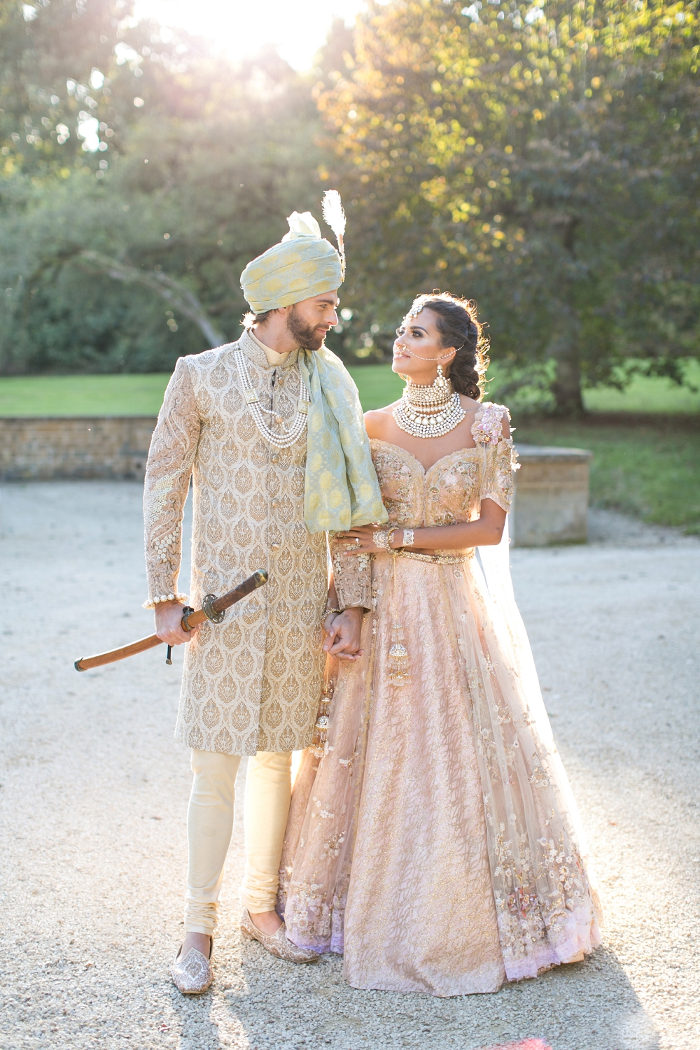 Desi Bride Dreams Asian Fusion Anneli Marinovich Photography 137 - Asian English Wedding Dress