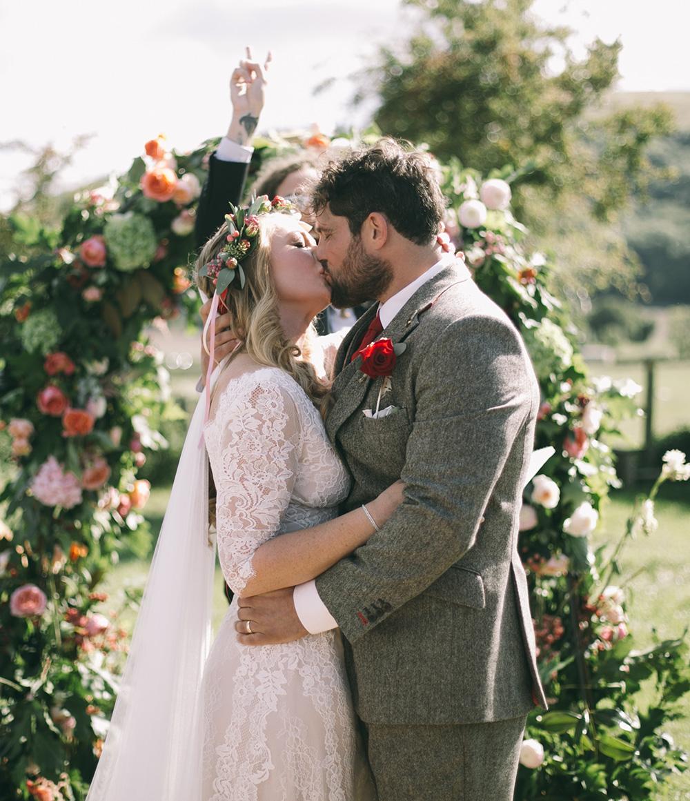 Real Flower Company Wedding Outdoor Ceremony Hampshire Uk
