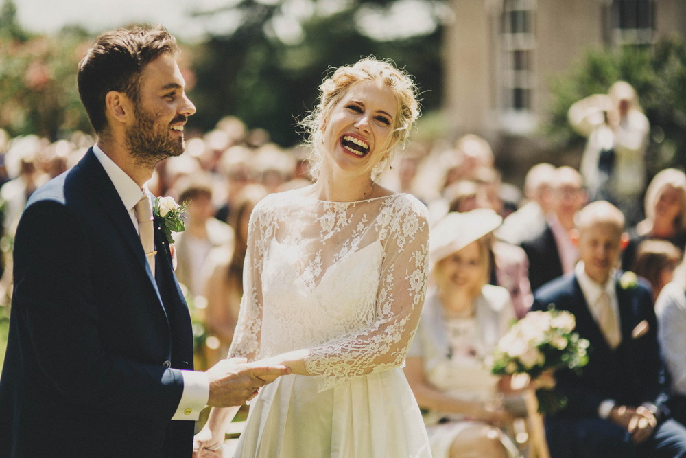 Relaxed, Outdoor, Blush, Wedding At Pennard House In Somerset