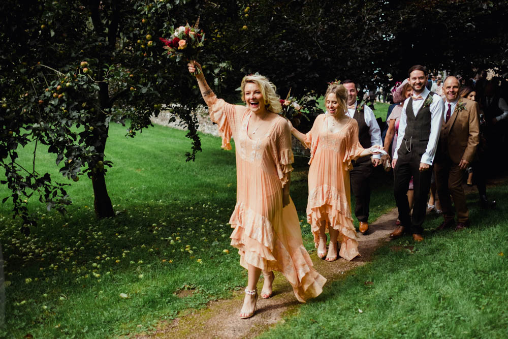 Outdoor Wedding at Dewsall Court with Dreamcatchers & Rue de Seine Gown