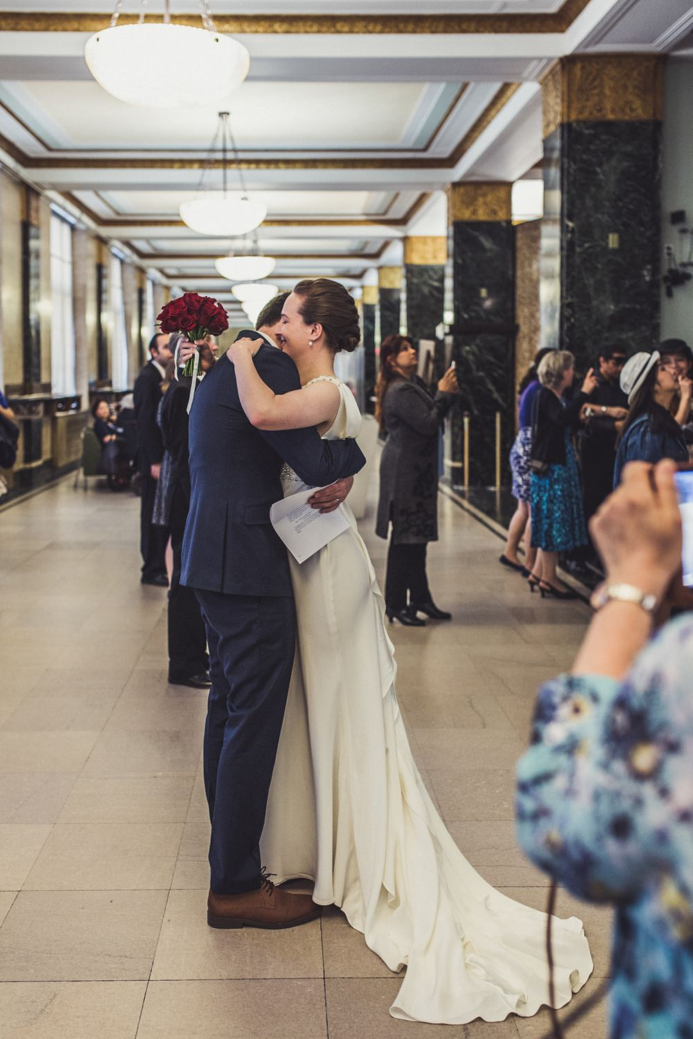 Intimate New York Wedding With Anoushka G Bridal Gown
