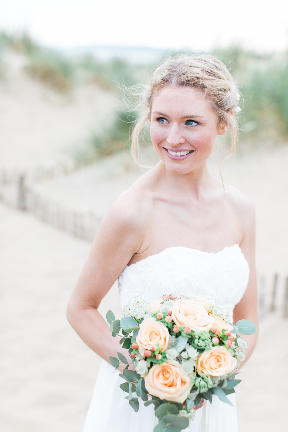 Fishtail Braid Bridal Hair For A Beach Inspiration Shoot At Camber Sands