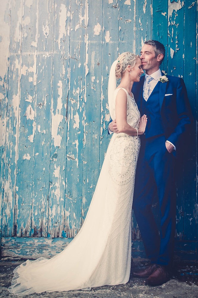 Esme by Jenny Packham For A Traditional Wedding In Wales With A Navy ...