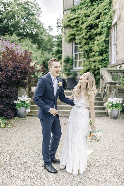 Middleton Lodge Outdoor Pastel Wedding with Preloved Jenny Packham