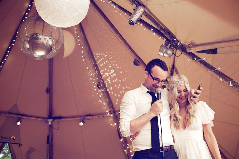An Ethereal Bohemian Inspired Wedding At Standlow Farm With Tipis From Papakata, A David Fielden Dress And Juliet Cap Veil With A Sweet Avalanche Rose Bouquet.