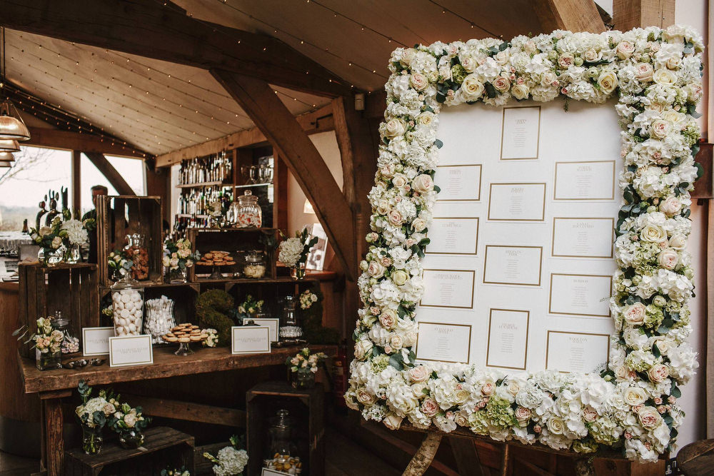 Rustic romance wedding at cripps barn cotswolds with christos floral table plan wooden crate sweet table wedding decor cripps barn wedding junglespirit Gallery