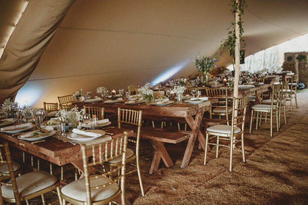 Connemara Ireland Wedding With Rustic Decor Stretch Tent Marquee