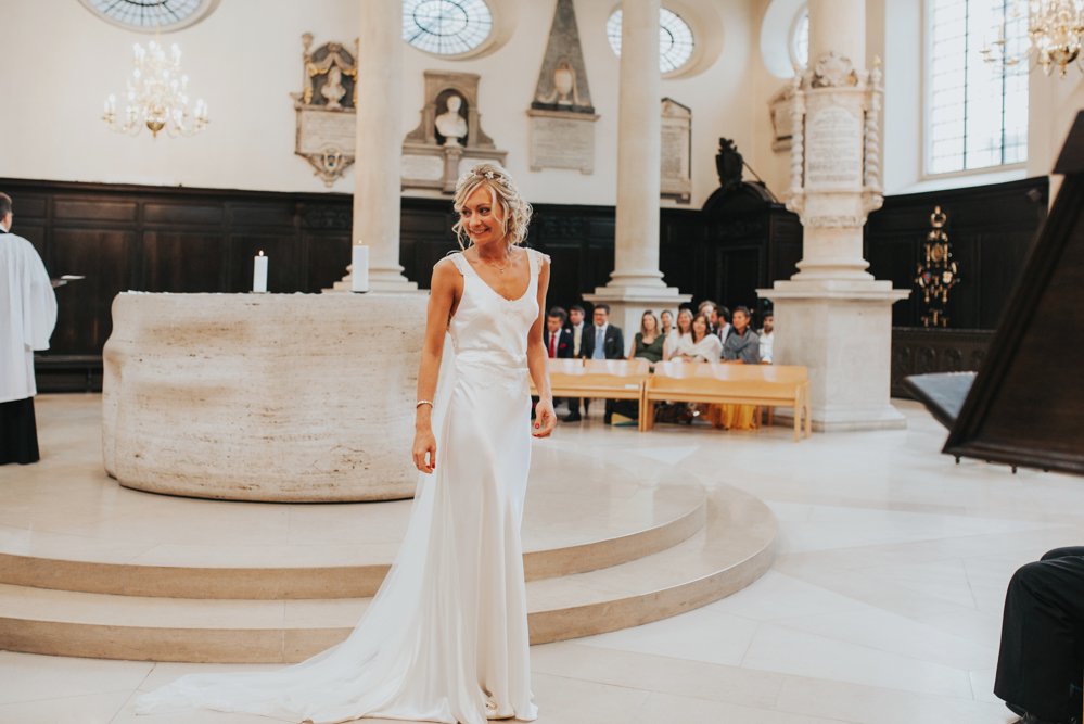 6ac4e8a2c Chic London Wedding with Elegant Rose and Delilah Madeleine Gown