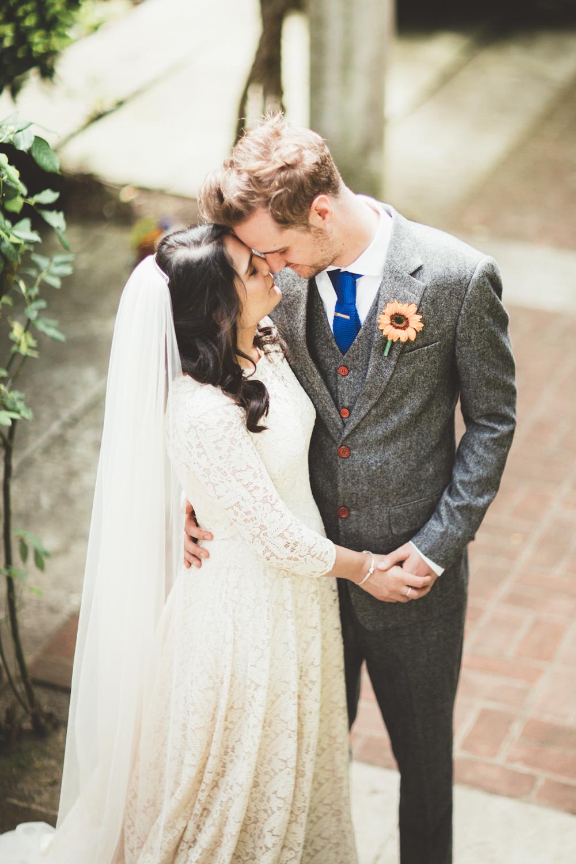 Elizabeth Avey Vintage Wedding Dress Intimate Wedding In London