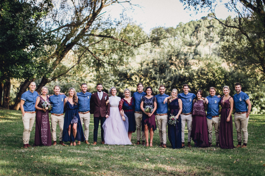 Outdoor Alternative Wedding At Family Farm With Steampunk