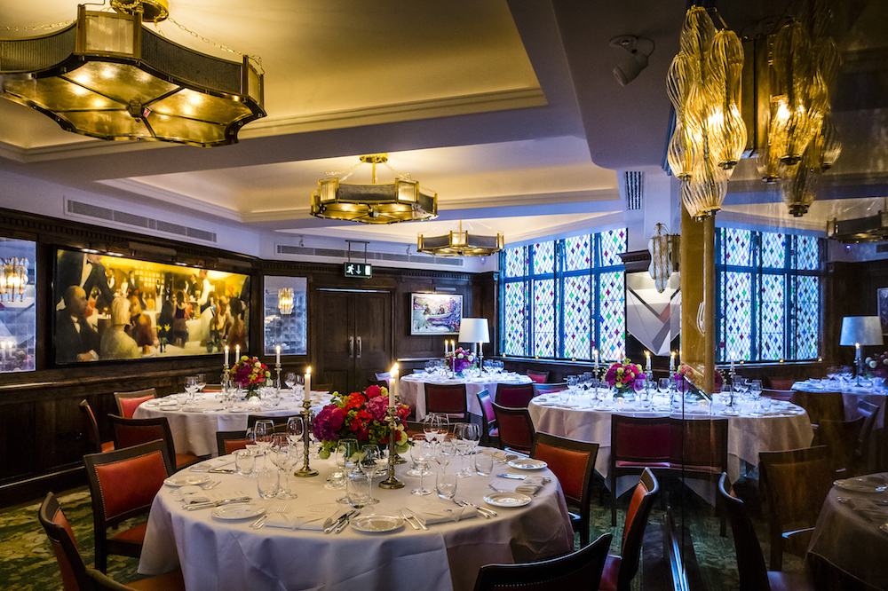 West end exclusive hire luxury wedding venue the ivy for Best private dining rooms west end london