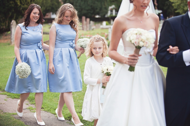 Rustic Hertfordshire Wedding With Bride In Tea Length Gown And Groom In Ted Baker Suit
