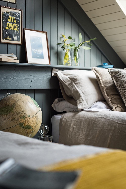 Cosy attic bedroom the stack cornwall intimate exclusive hire wedding venue