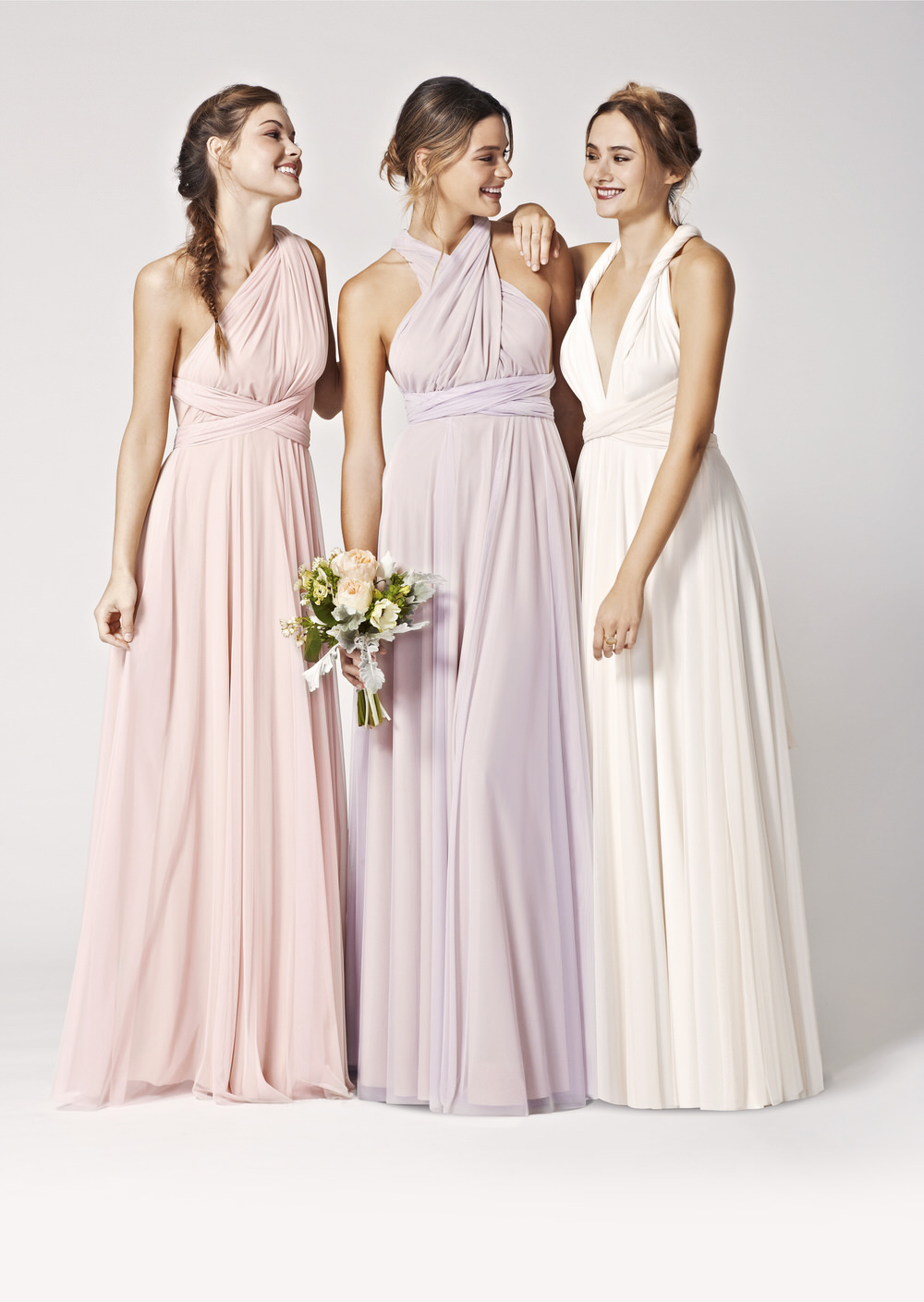 Twobirds rock my wedding uk wedding blog directory tulle multiway ballgowns in petal lilac cream ombrellifo Image collections