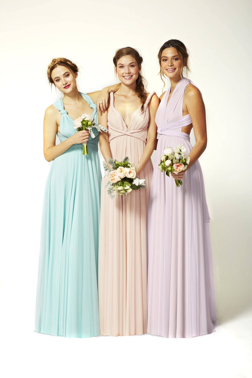 Twobirds rock my wedding uk wedding blog directory tulle multiway ballgowns in seafoam petal lilac ombrellifo Image collections