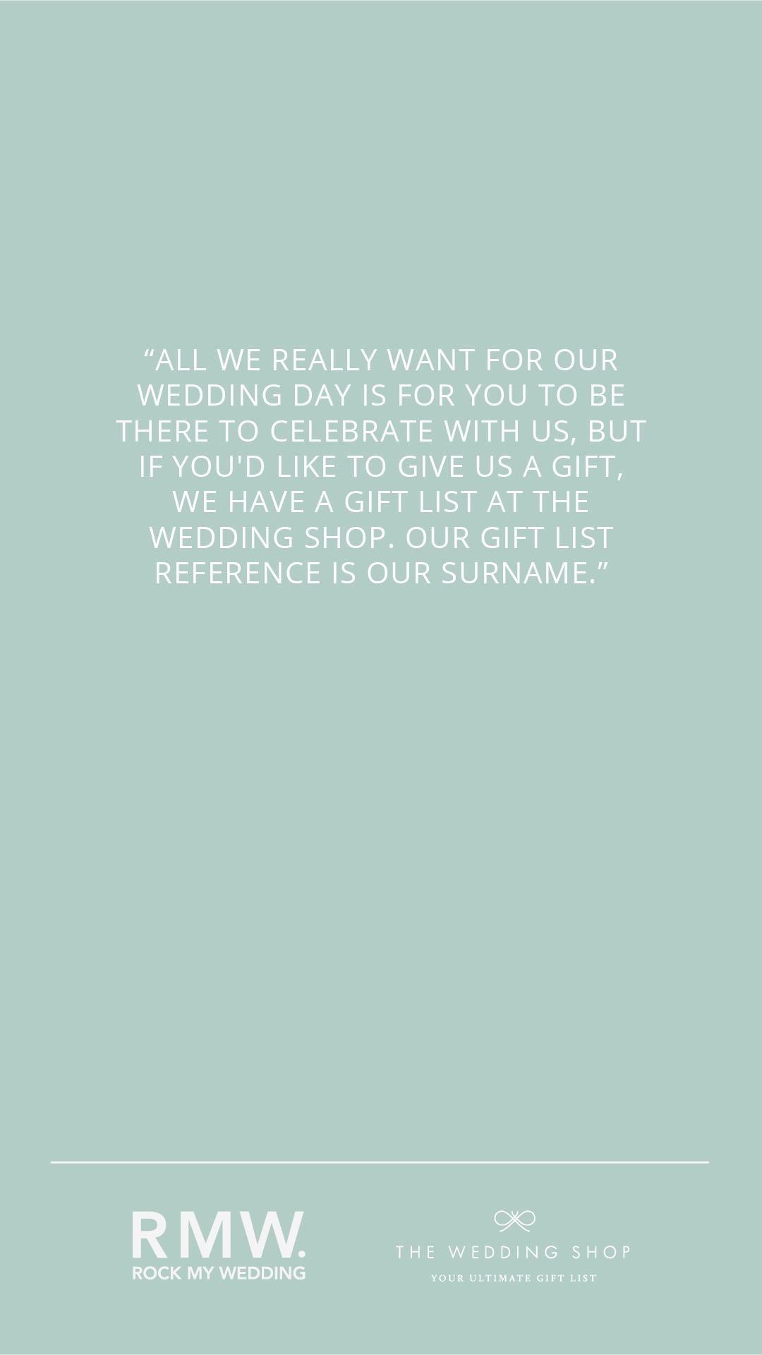 How to ask for wedding presents gift list with the wedding shop how to ask graciously for wedding presents negle Images