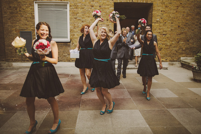A hip city wedding held at an power station art gallery in East London with a Cymbeline 1930s inspired dress. sallyadam_298