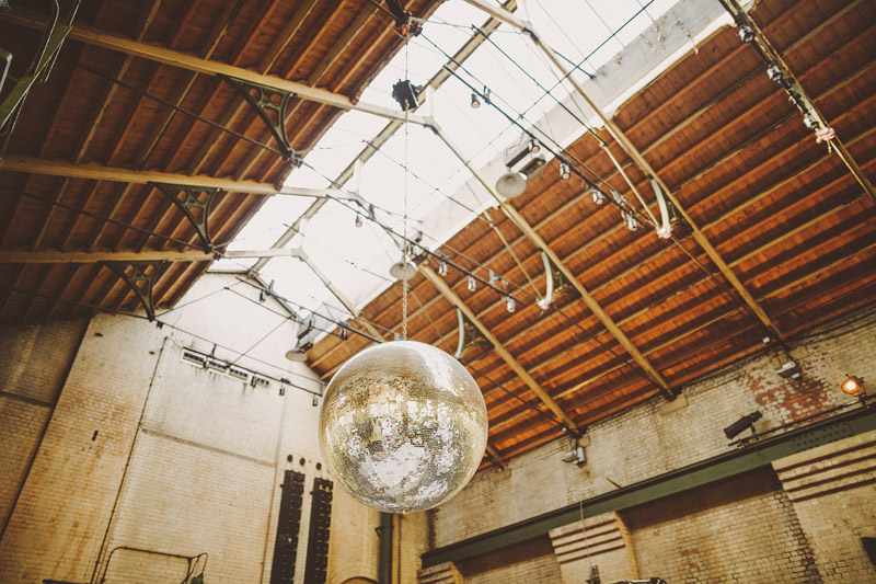 A hip city wedding held at an power station art gallery in East London with a Cymbeline 1930s inspired dress.