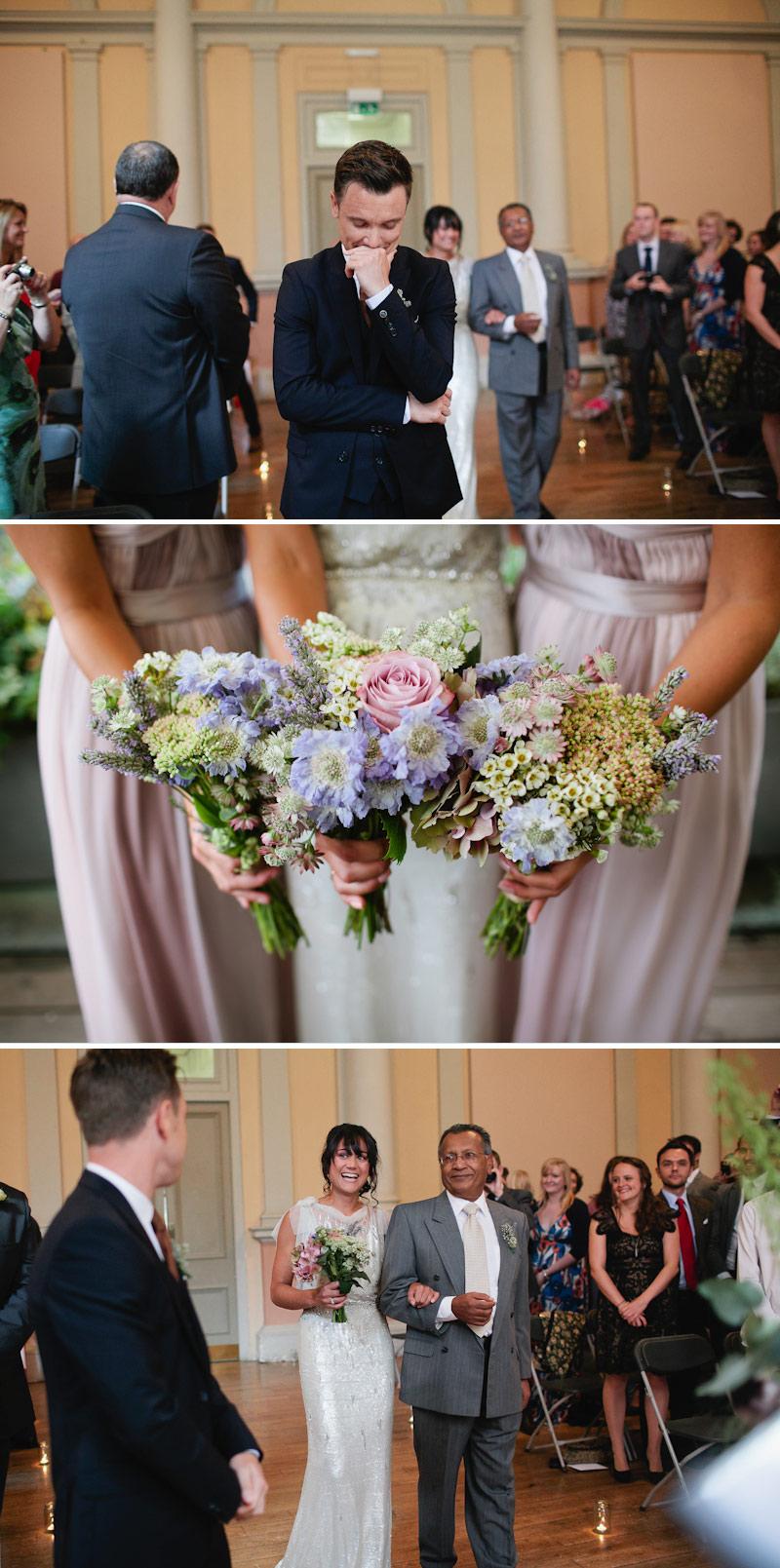Tarah-Coonan-Bridesmaids-blue-pink-bouquets-