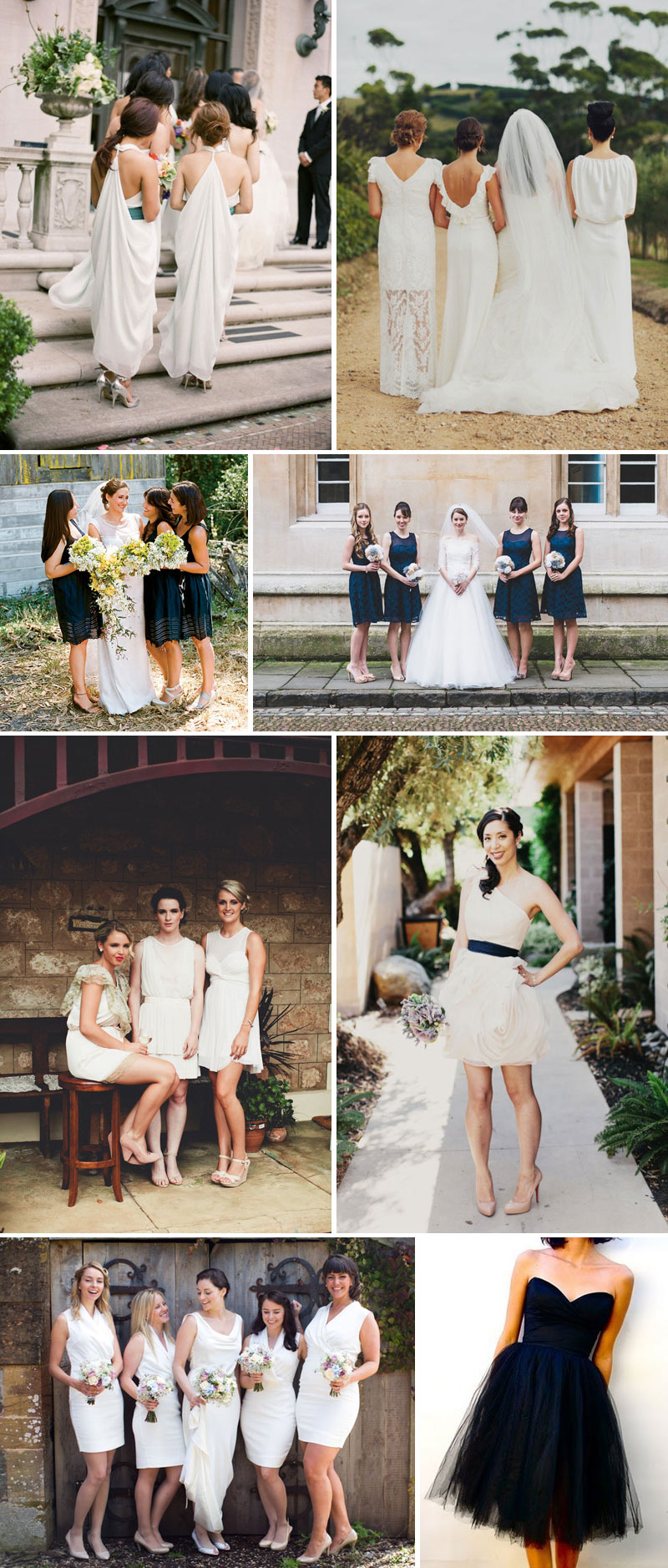 Contemporary Chic Bridesmaid Dresses