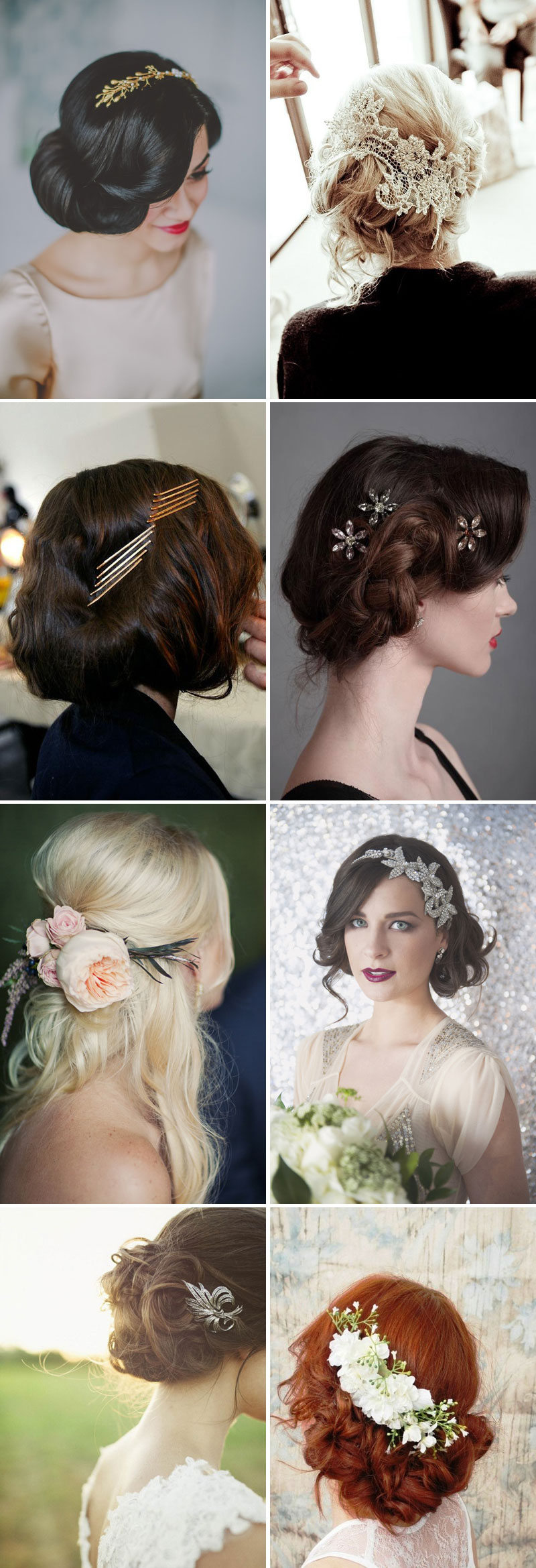 Embellished Wedding Hairpiece Inspiration