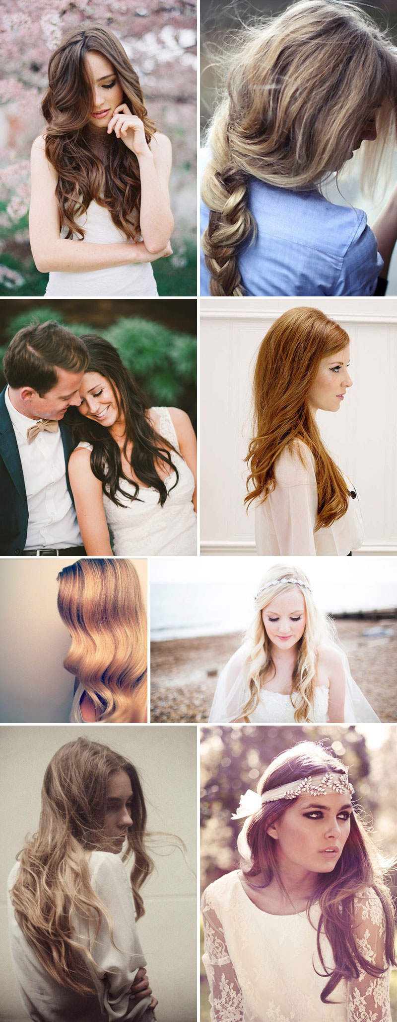 Hang Loose Wedding Hair Long Inspiration